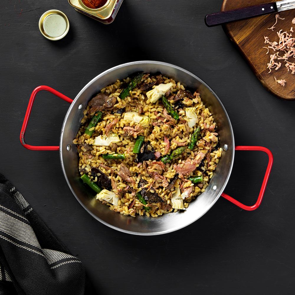 Receta de arroz de pato y foie