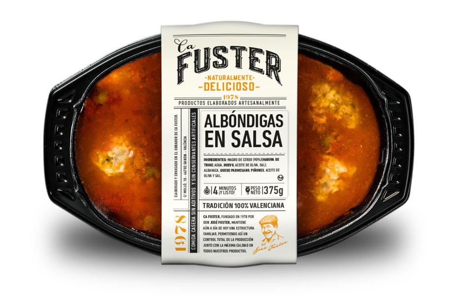 Tupper albóndigas en salsa