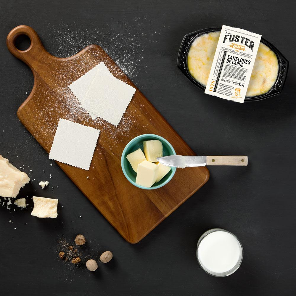 Ingredientes canelones de carne