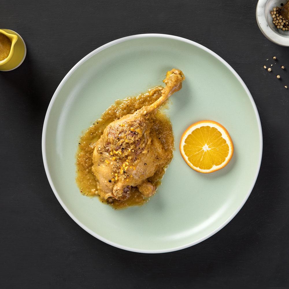 Receta de pato a la naranja
