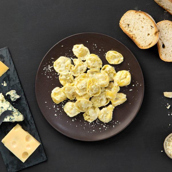 Receta de raviolis cuatro quesos