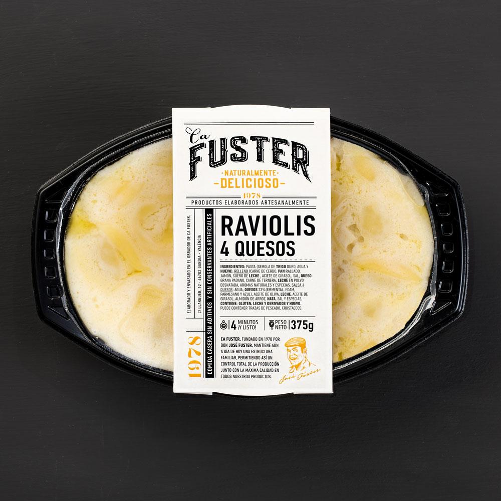 Raviolis cuatro quesos para llevar